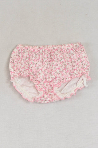 Woolworths Dainty Pink Floral  Bloomers Girls 0-3 months