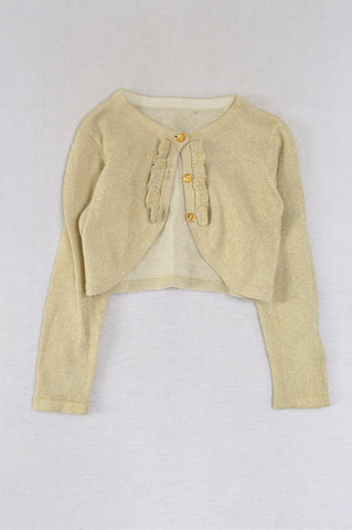 Woolworths Gold Glitter Knit Cardigan Girls 2-3 years