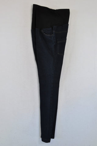 Absolute Maternity Black Banded Dark Maternity Jeans Size M