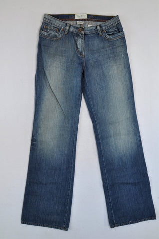 Next Blue Faded Longer Length Jeans Women Size 12