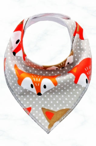 New Seadog Baby Cool Grey Dotty Fox Bandana Bib Unisex N-B to 2 years