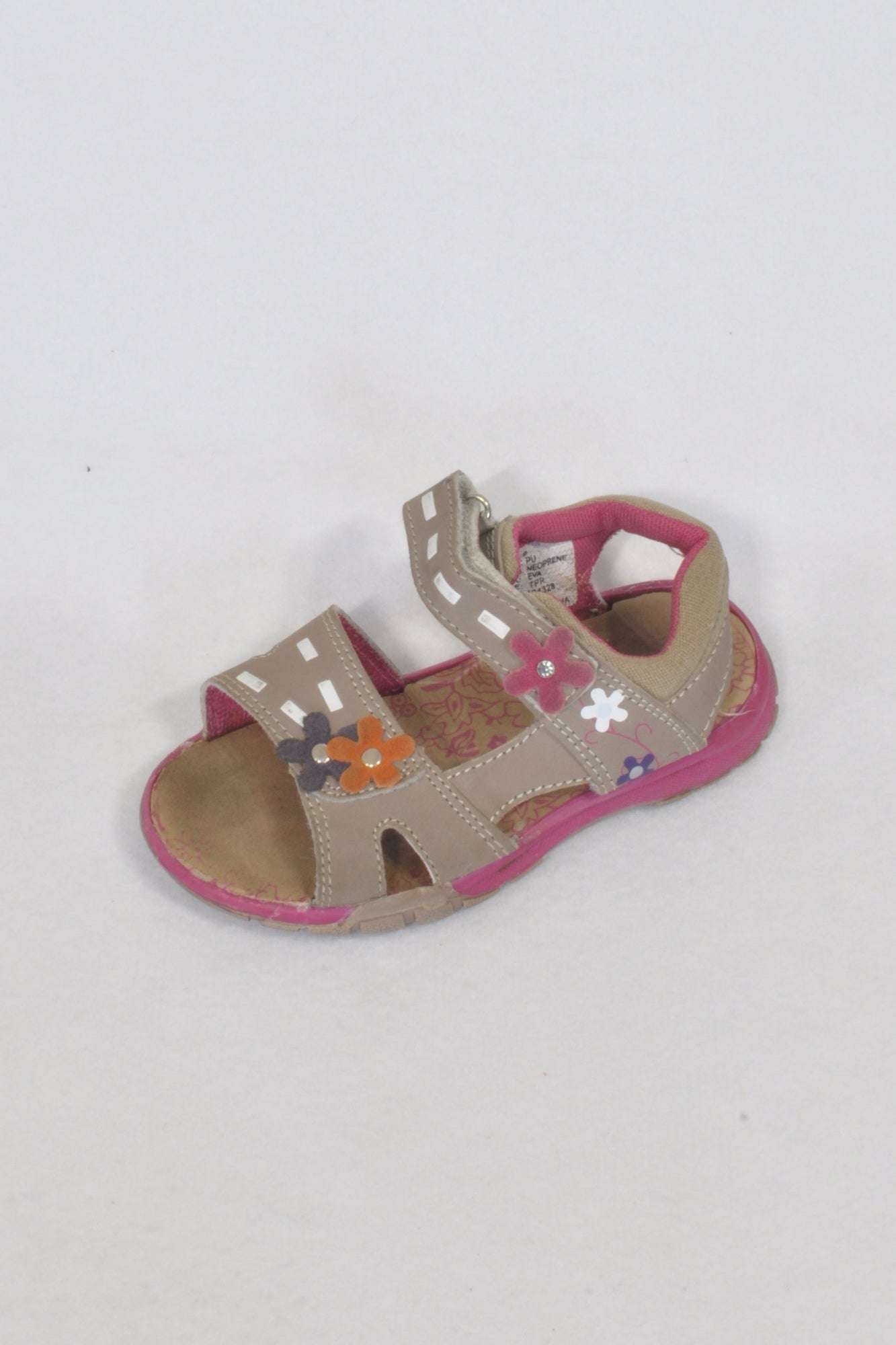Ackermans Tan Flower Sandal Shoes Girls 5-6 years