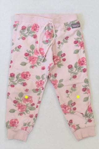 Naartjie Pink Rose Track Pants Girls 12-18 months