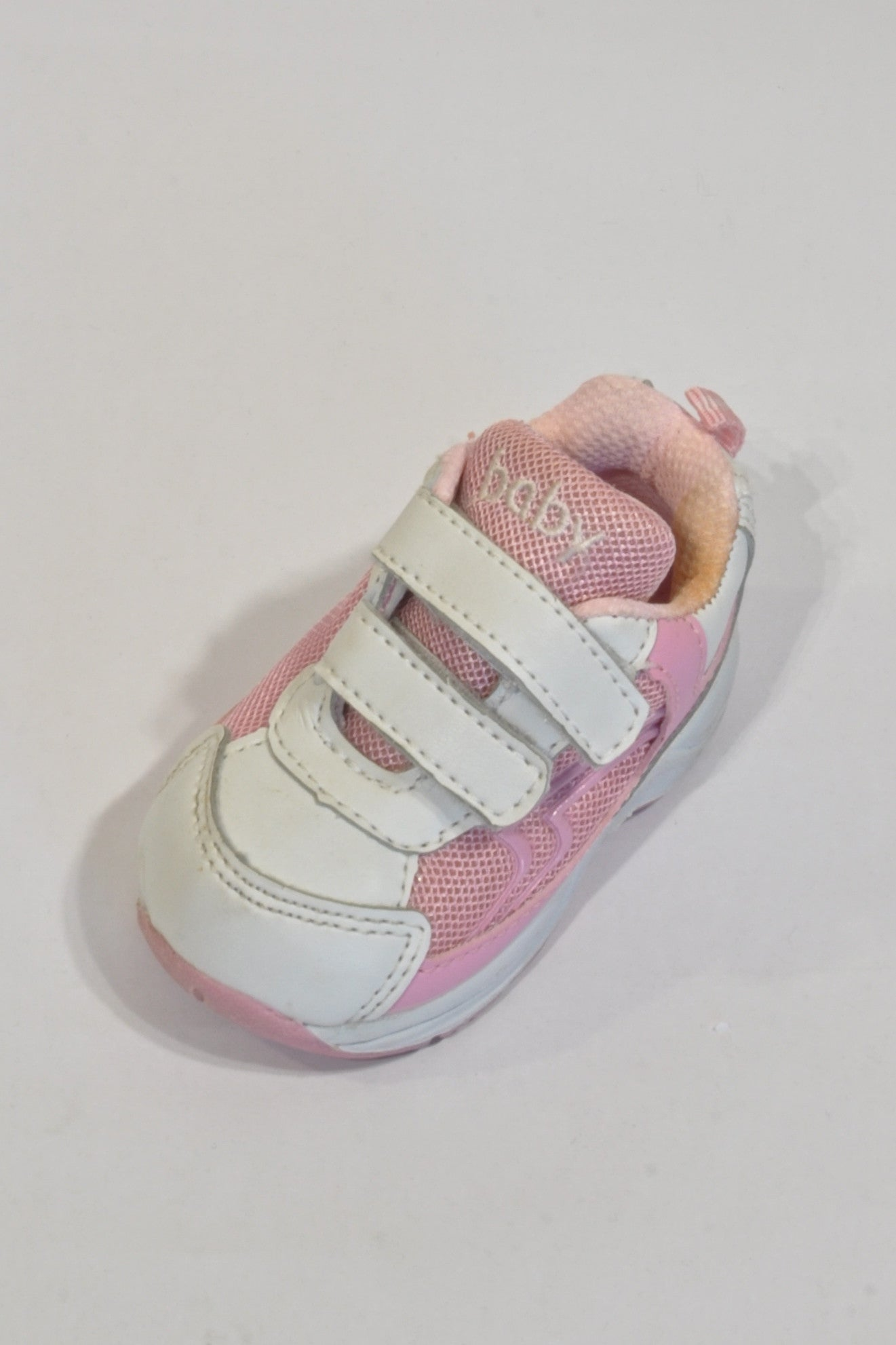 Pink And White Trainer Shoes Girls 3-6 months