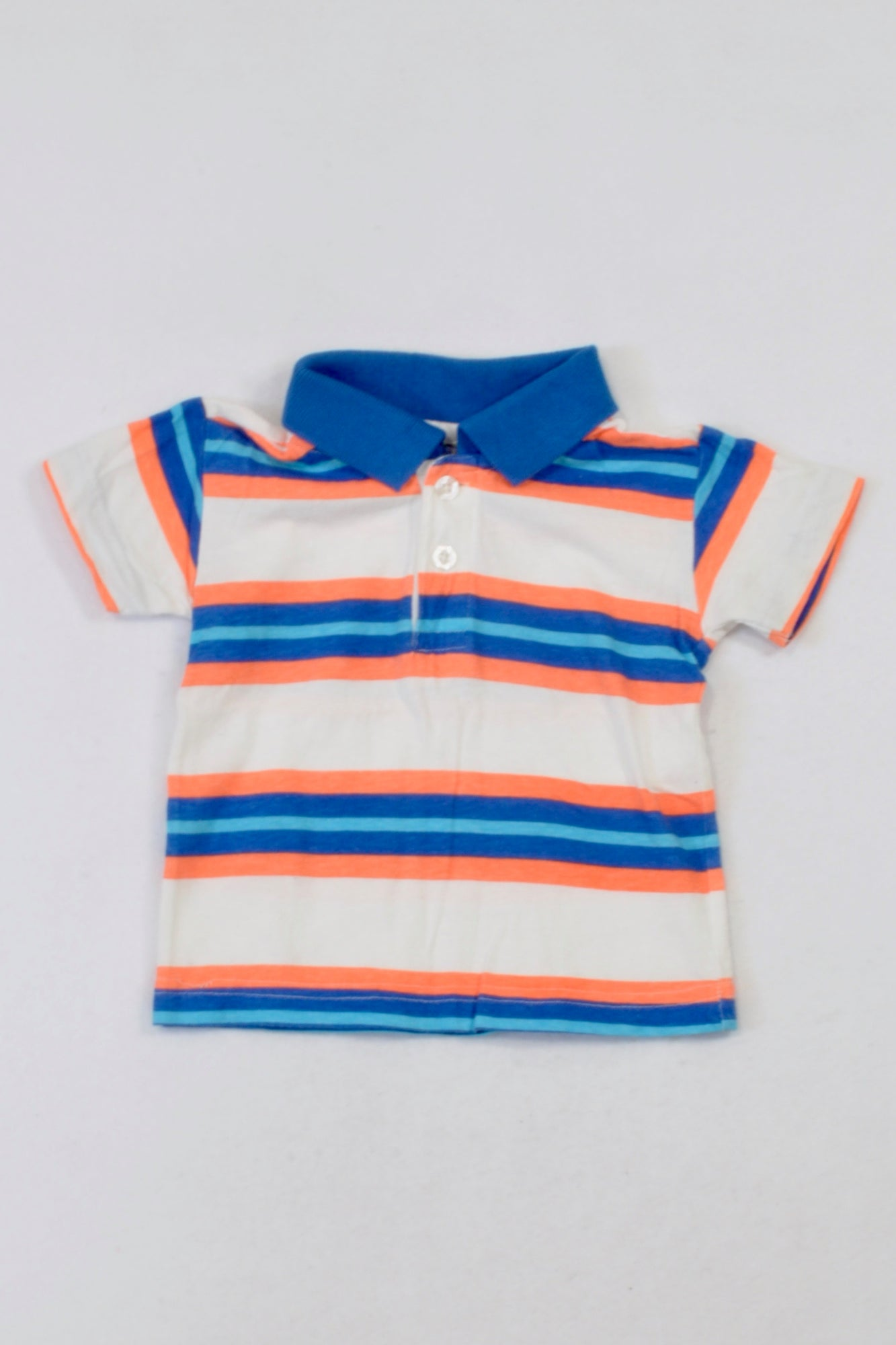 Ackermans Blue & Orange Golf Shirt Boys 3-6 months