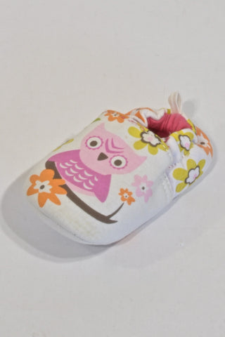 New Next White Owl Shoes Girls 12-18 months