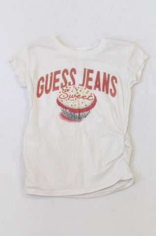 Guess White Sweet Cupcake T-shirt Girls 2-3 years