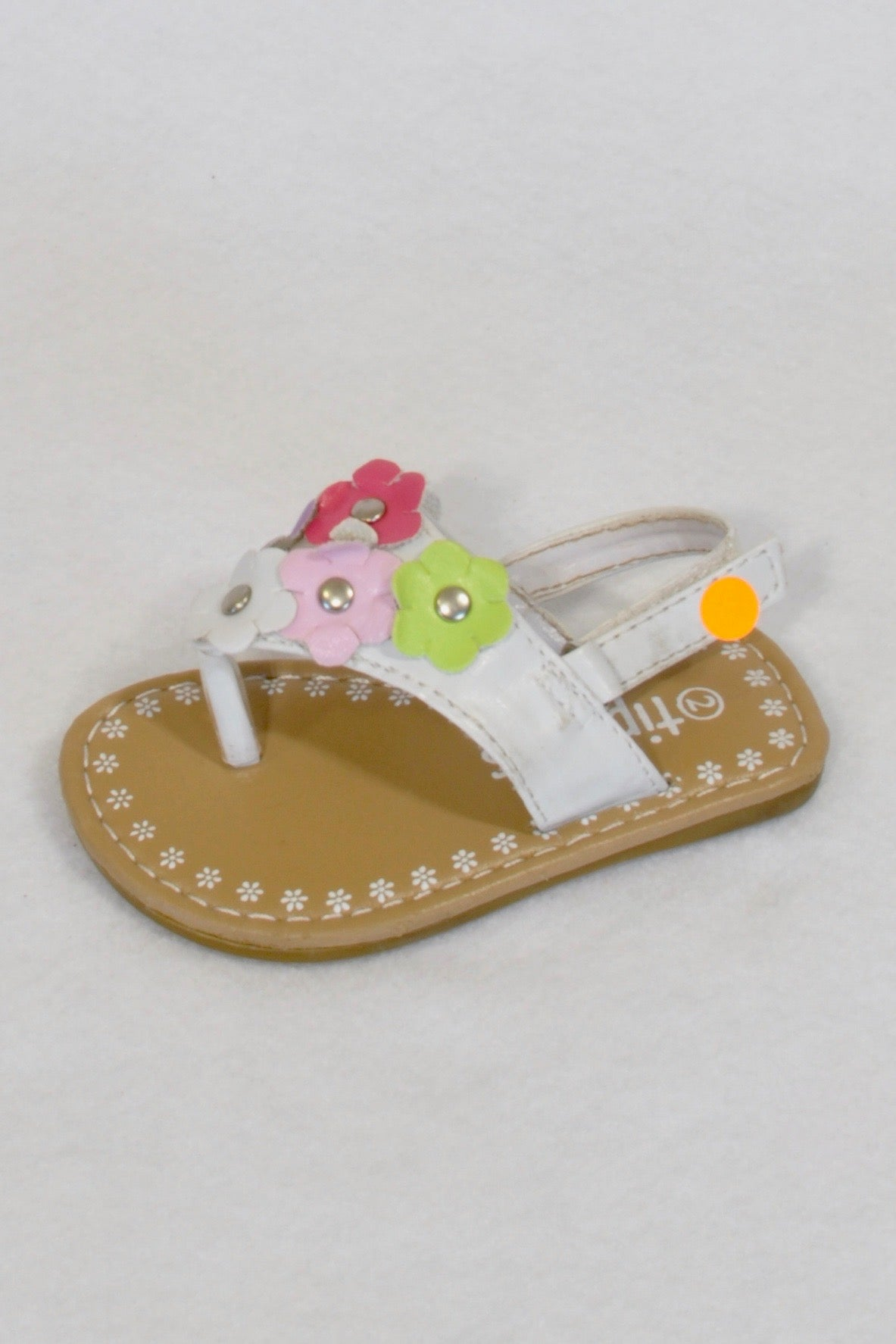 Tiptoes Multicoloured Flower Size 2 Sandals Girls 6-9 months