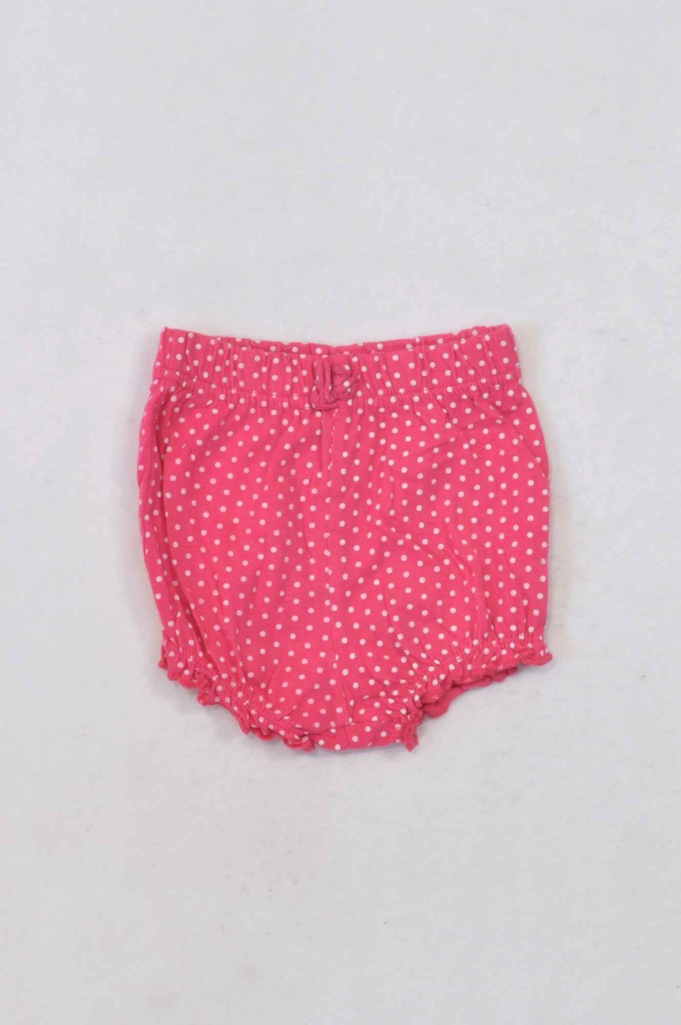 Ackermans Cerise & White Polkadot Bloomers Girls 3-6 months