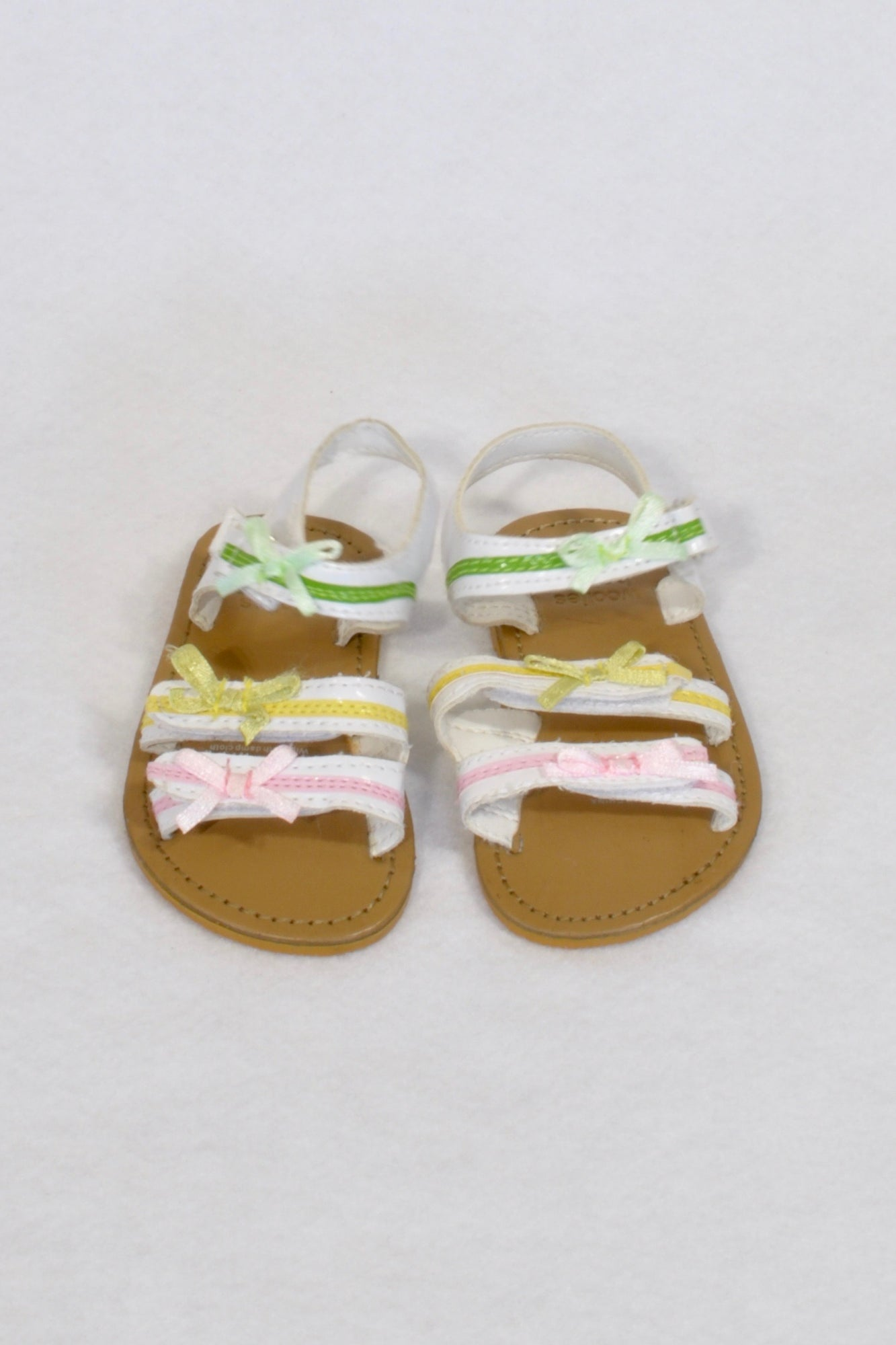 Woolworths Multi-Coloured Strap Size 2 Sandals Girls 6-9 months