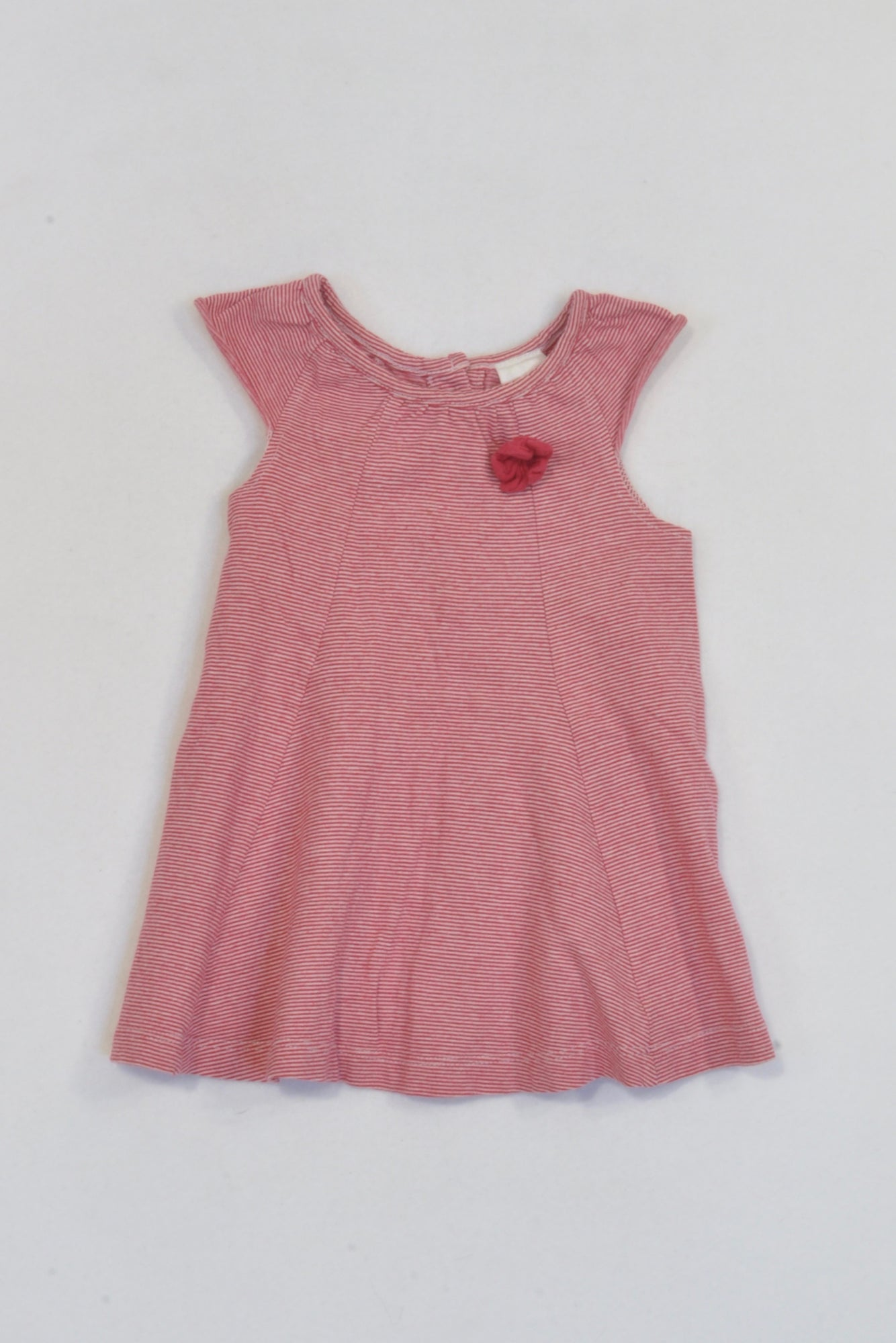 c5856b803750 Target Red   White Thin Striped Dress Girls 3-6 months – Once More
