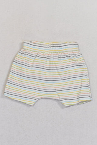 Colour Stripe Shorts Unisex N-B