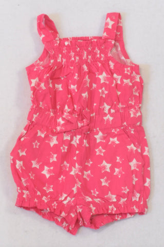 Early Days Cerise Star Bow Romper Girls 0-3 months