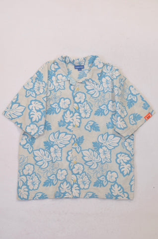 Naartjie Mint & Turquoise Tropical Collared Shirt Boys 7-8 years