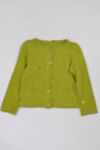 Carters Lime Green Lightweight Cardigan Girls 4-5 years