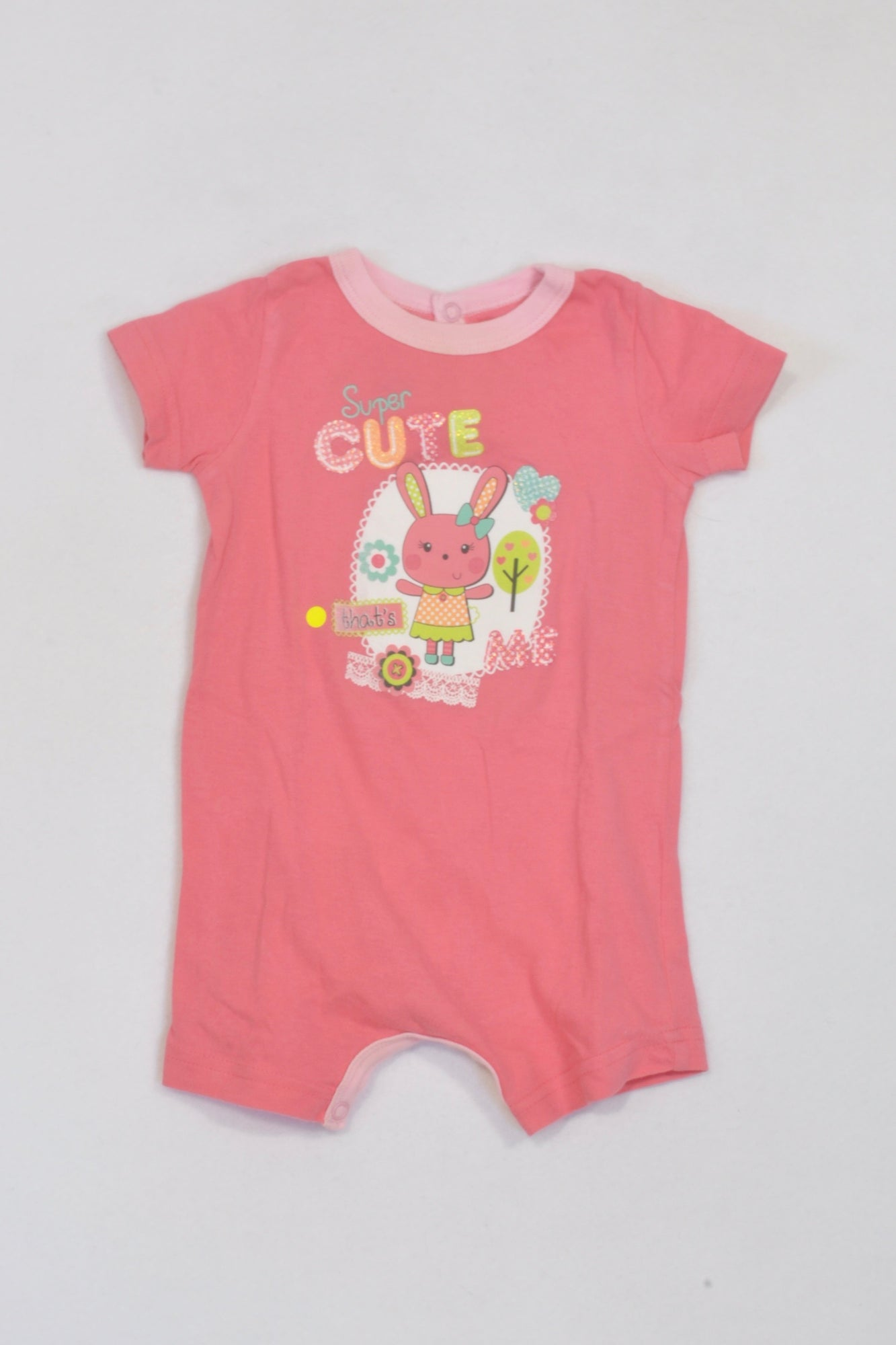 Woolworths Pink Super Cute Bunny Romper Girls 3-6 months