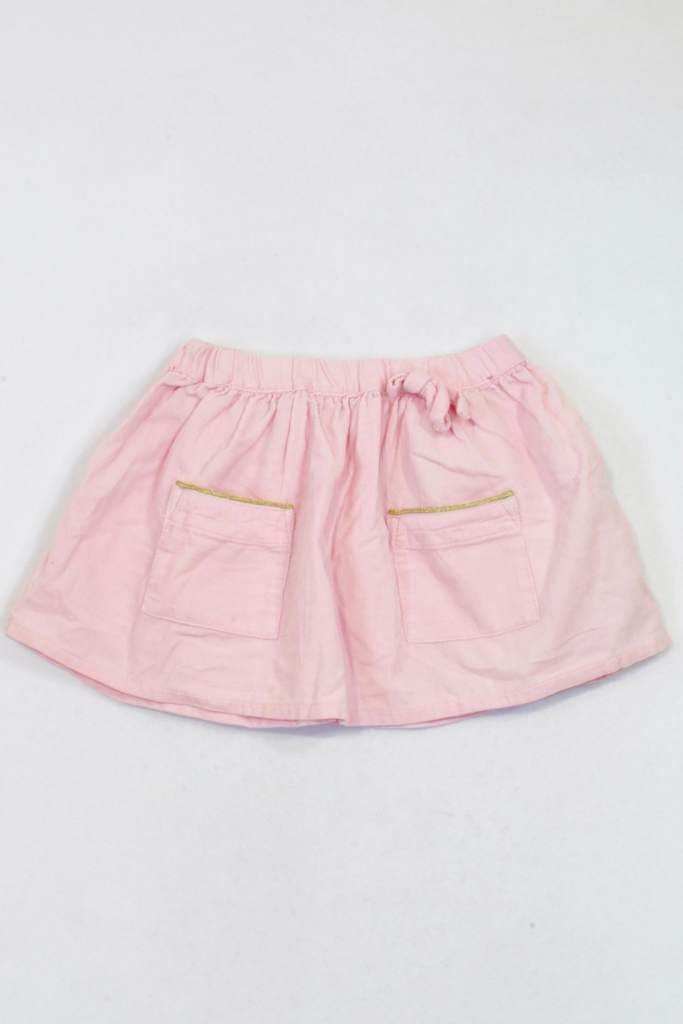 f650c26e7a Cotton On Pink Corduroy Drawstring Skirt Girls 1-2 years – Once More