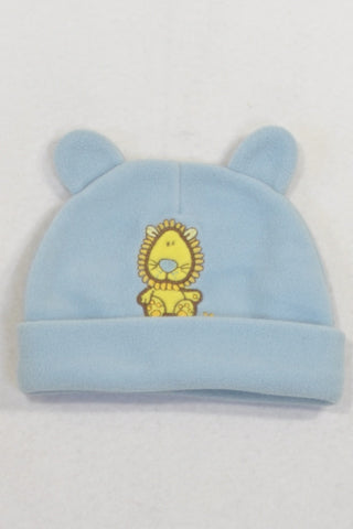 Blue Fleece Lion Beanie Boys N-B