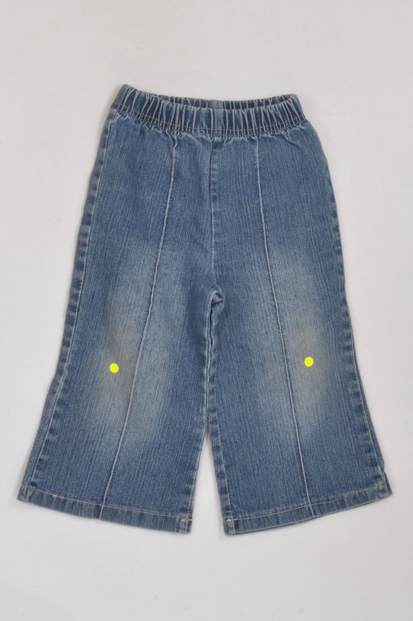 Ackermans Stone Washed Wide Leg Denim Jeans Girls 12-18 months