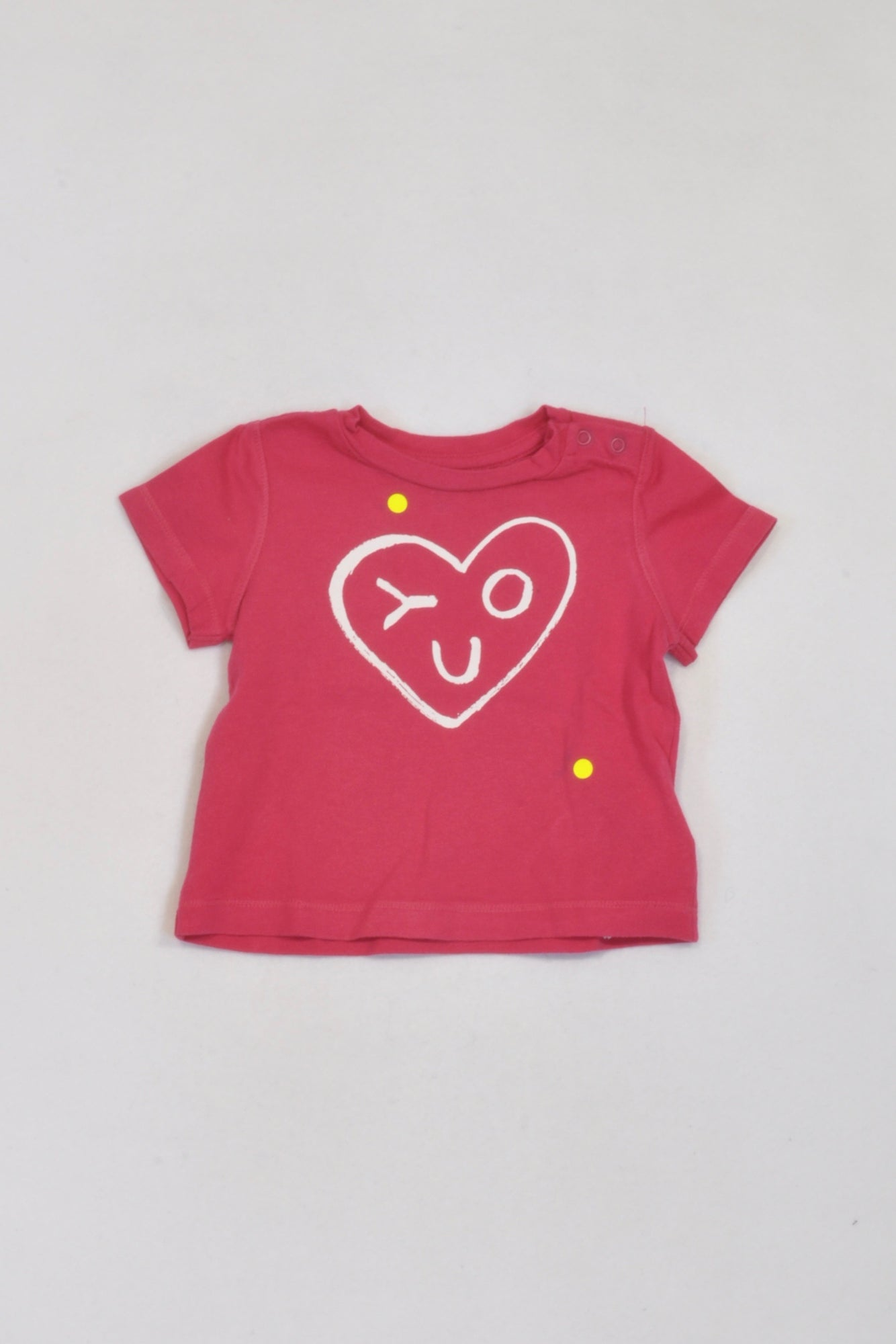 Gap Cerise Love You T-shirt Girls 3-6 months