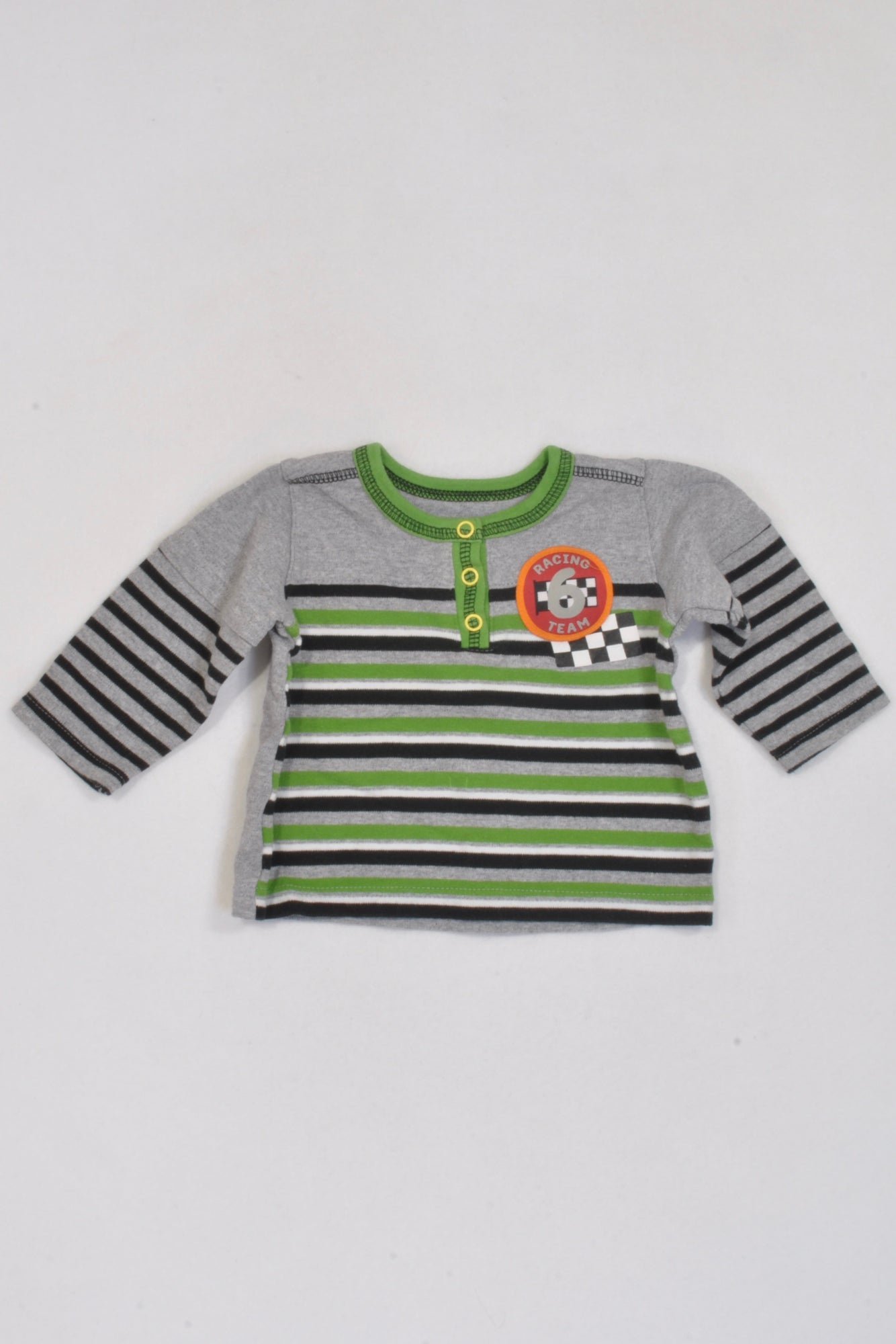 Woolworths Green Stripe Racing Team T-shirt Boys 3-6 months