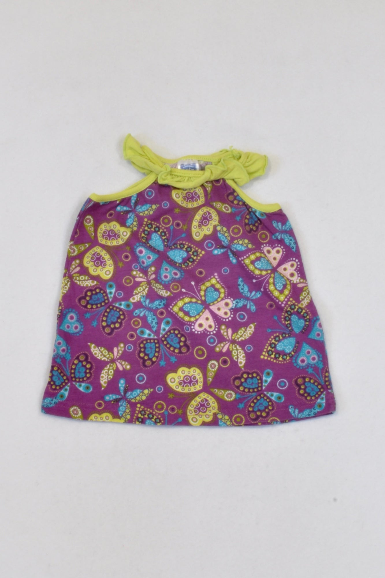 Ackermans Purple Paisley Butterfly Tank Top Girls 3-6 months