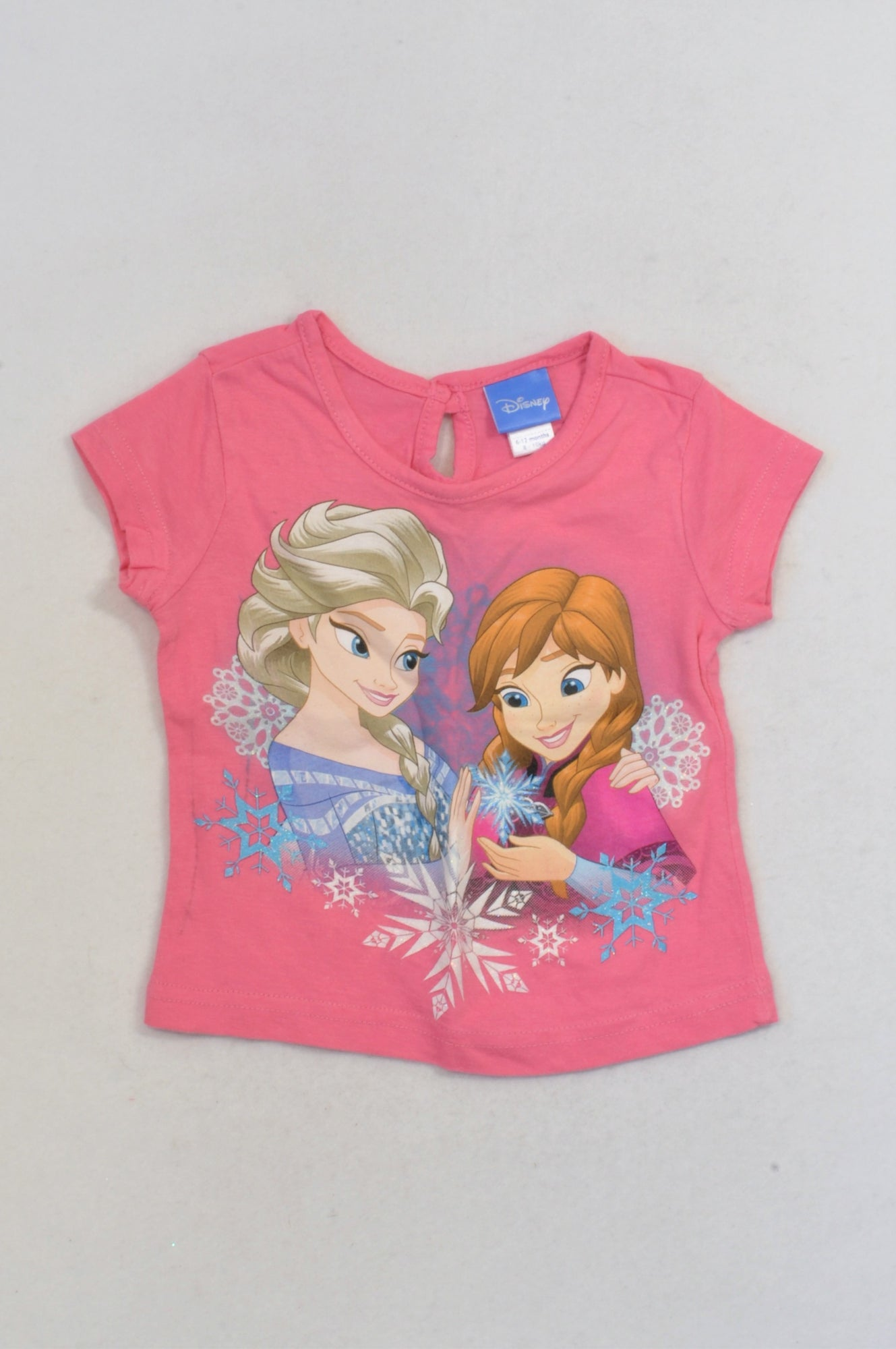 Ackermans Pink Frozen T-shirt Girls 6-12 months
