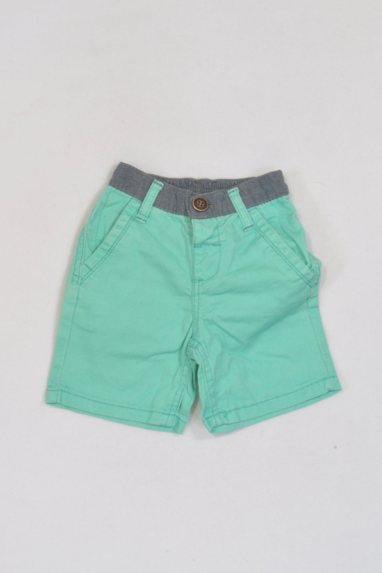 Ackermans Mint Banded Shorts Boys 3-6 months