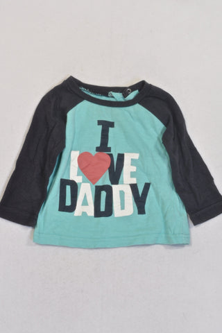 Cotton On Love Daddy Long Sleeve T-shirt Unisex 6-12 months