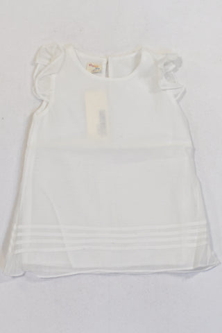 New White Lined  Blouse Girls 6-7 years