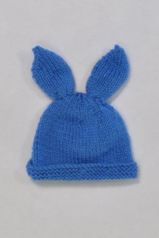 Knitted Bunny Beanie Boys 0-3 months