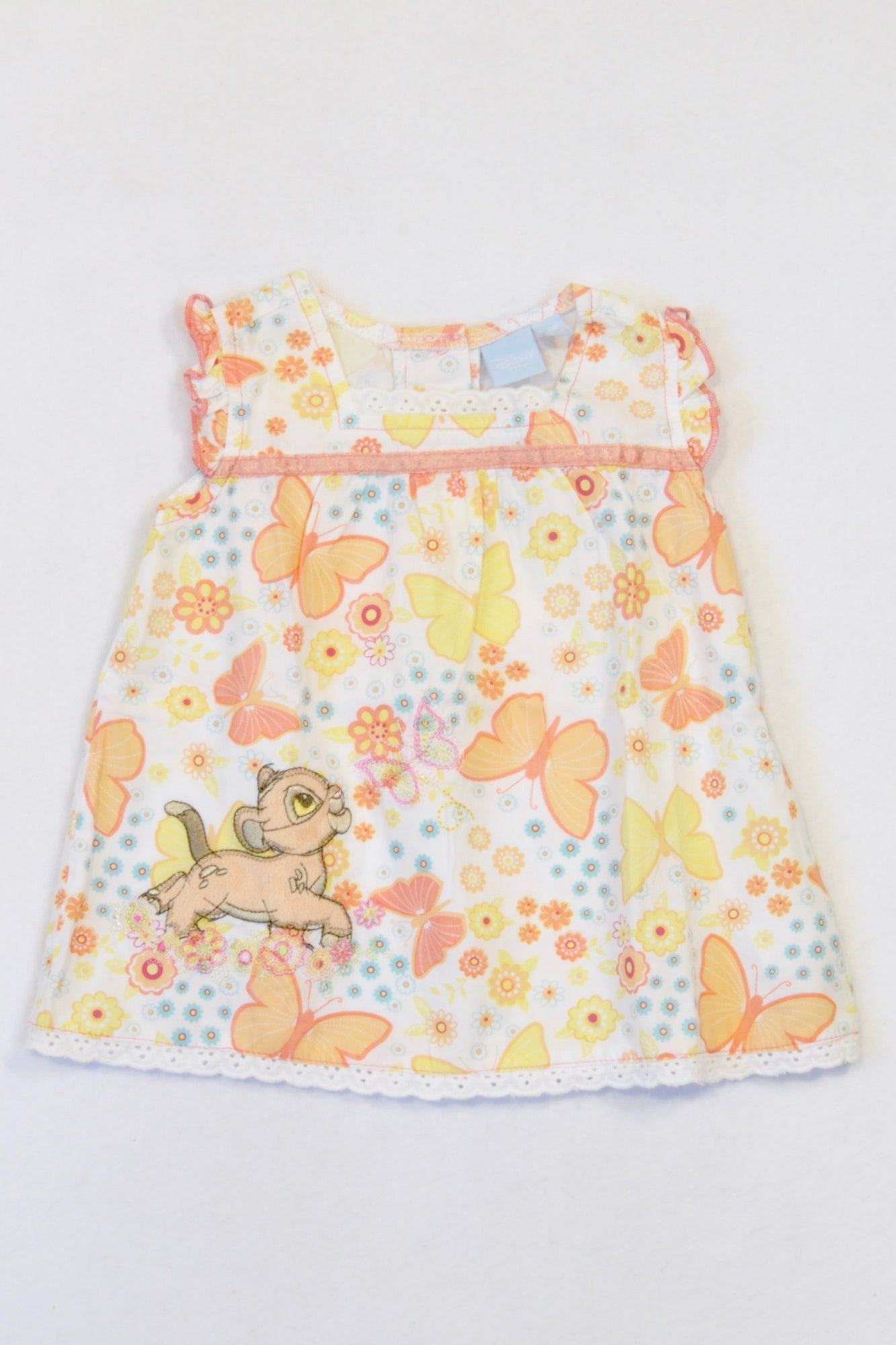 Disney orange yellow butterfly simba dress girls 3 6 months once more