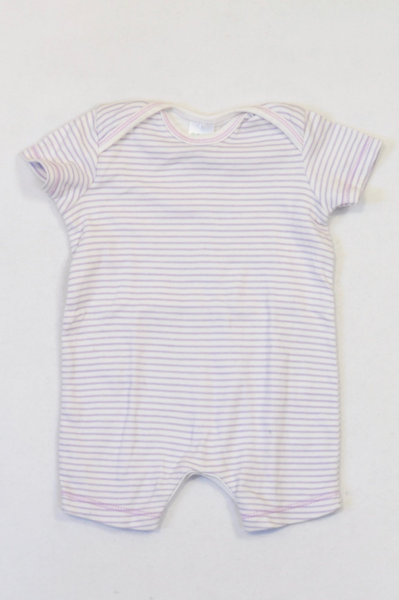 Pick 'n Pay Lilac & White Thin Stripe Romper Girls 3-6 months