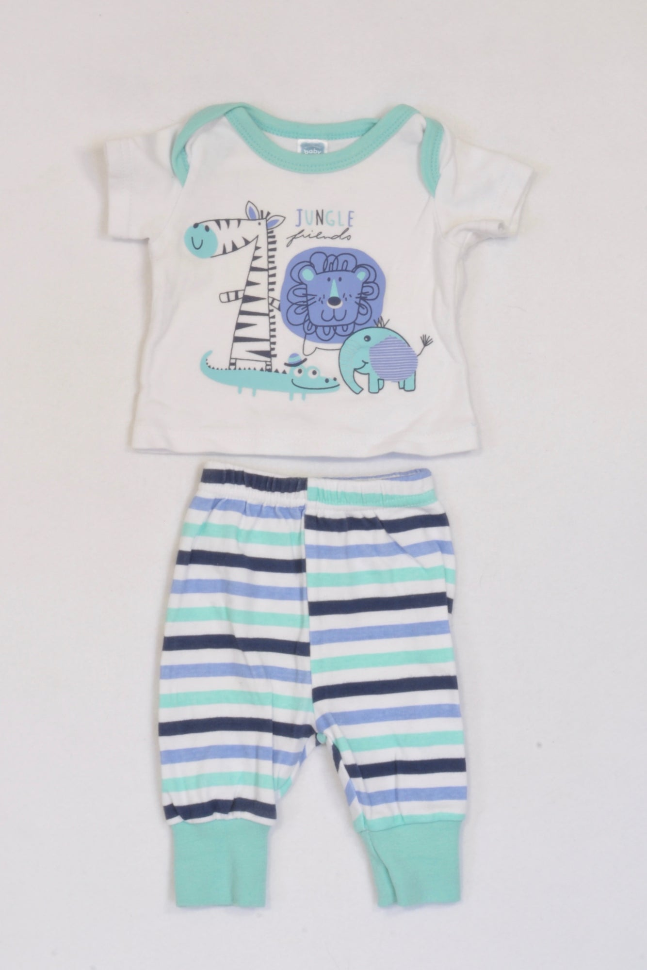 Ackermans Aqua Animal Stripe Outfit Boys N-B