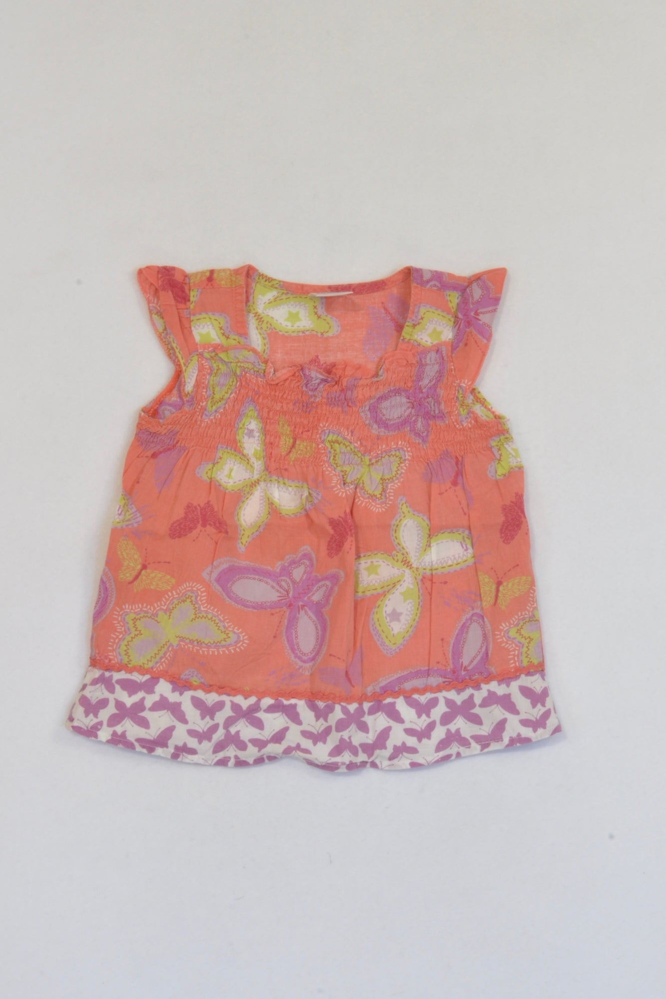 Ackermans Orange Butterfly Top Girls 6-12 months