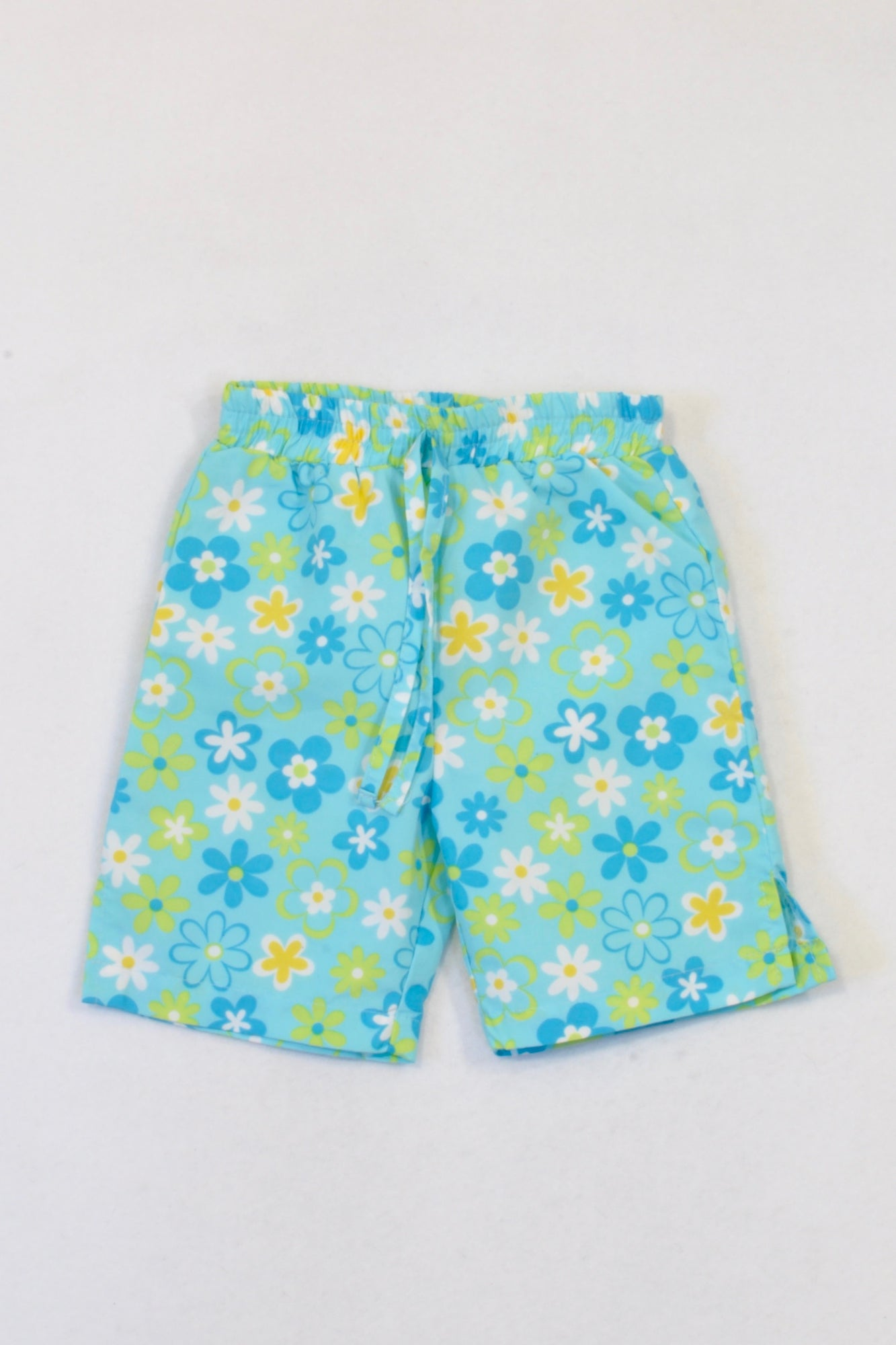 Ackermans Blue Tropical Swim Shorts Girls 3-6 months