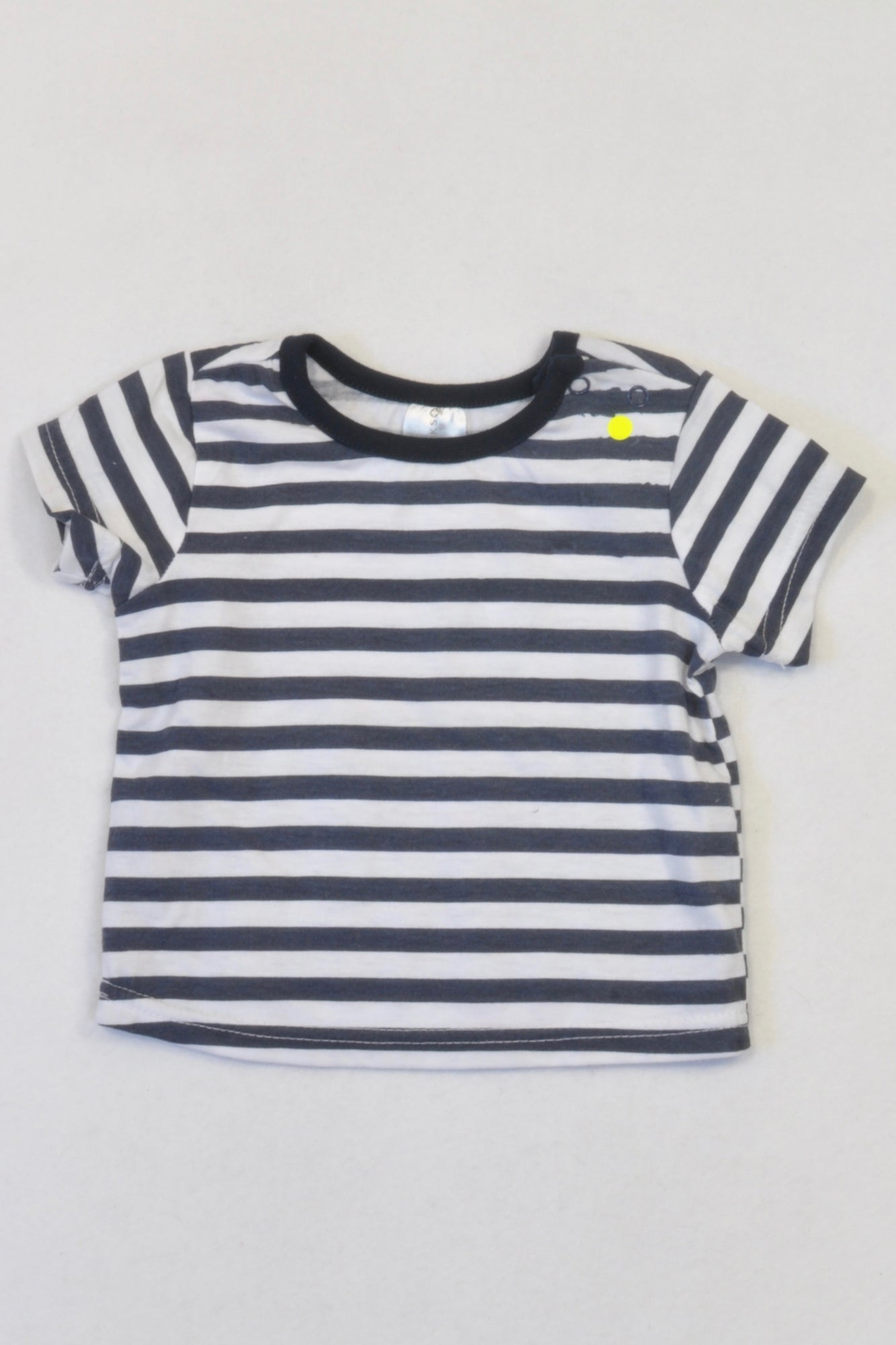 Clicks Navy & White Stripe T-shirt Boys 0-3 months