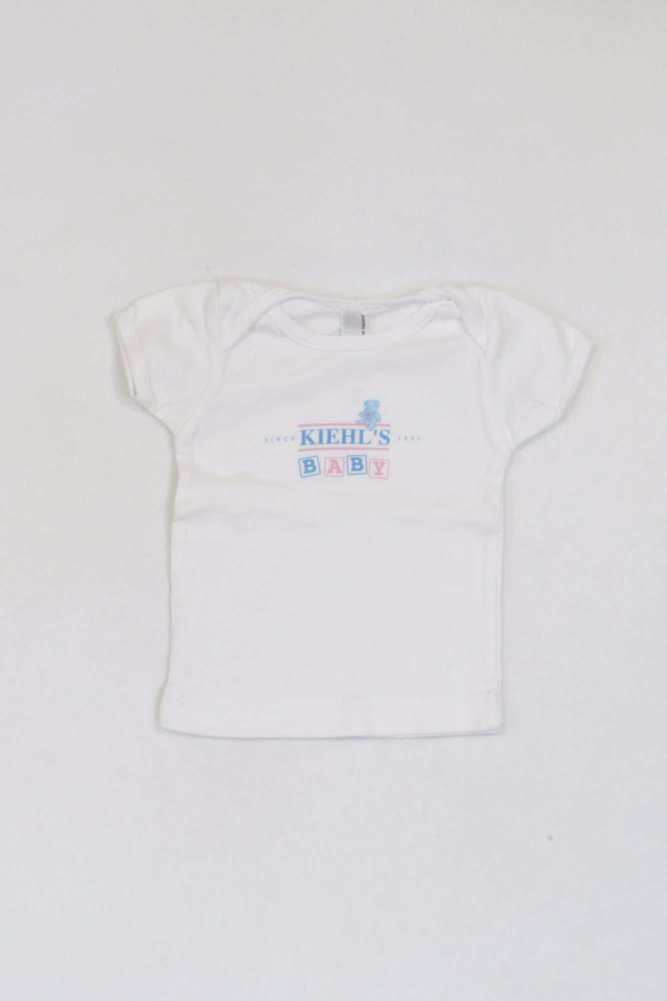 American Apparel White Kiehl's Baby Top Unisex 6-12 months
