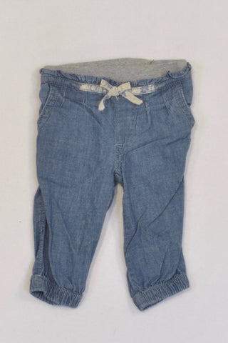 Monsoon Denim Cuffed Banded Pants Girls 0-3 months