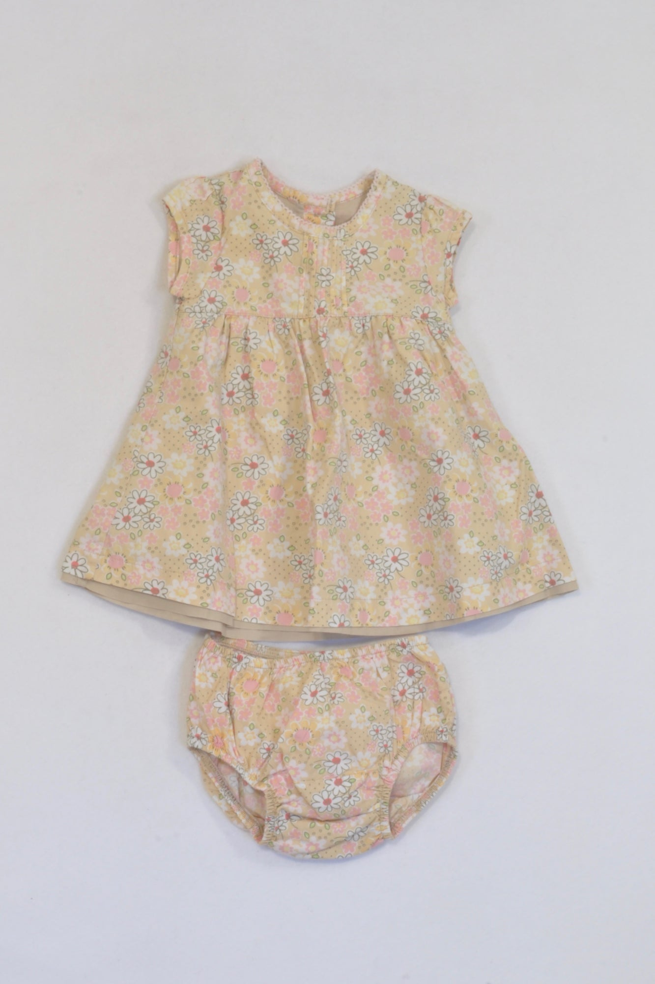 371f8d86166 Mothercare Yellow Flower Bloomer   Dress Girls 0-3 months – Once More