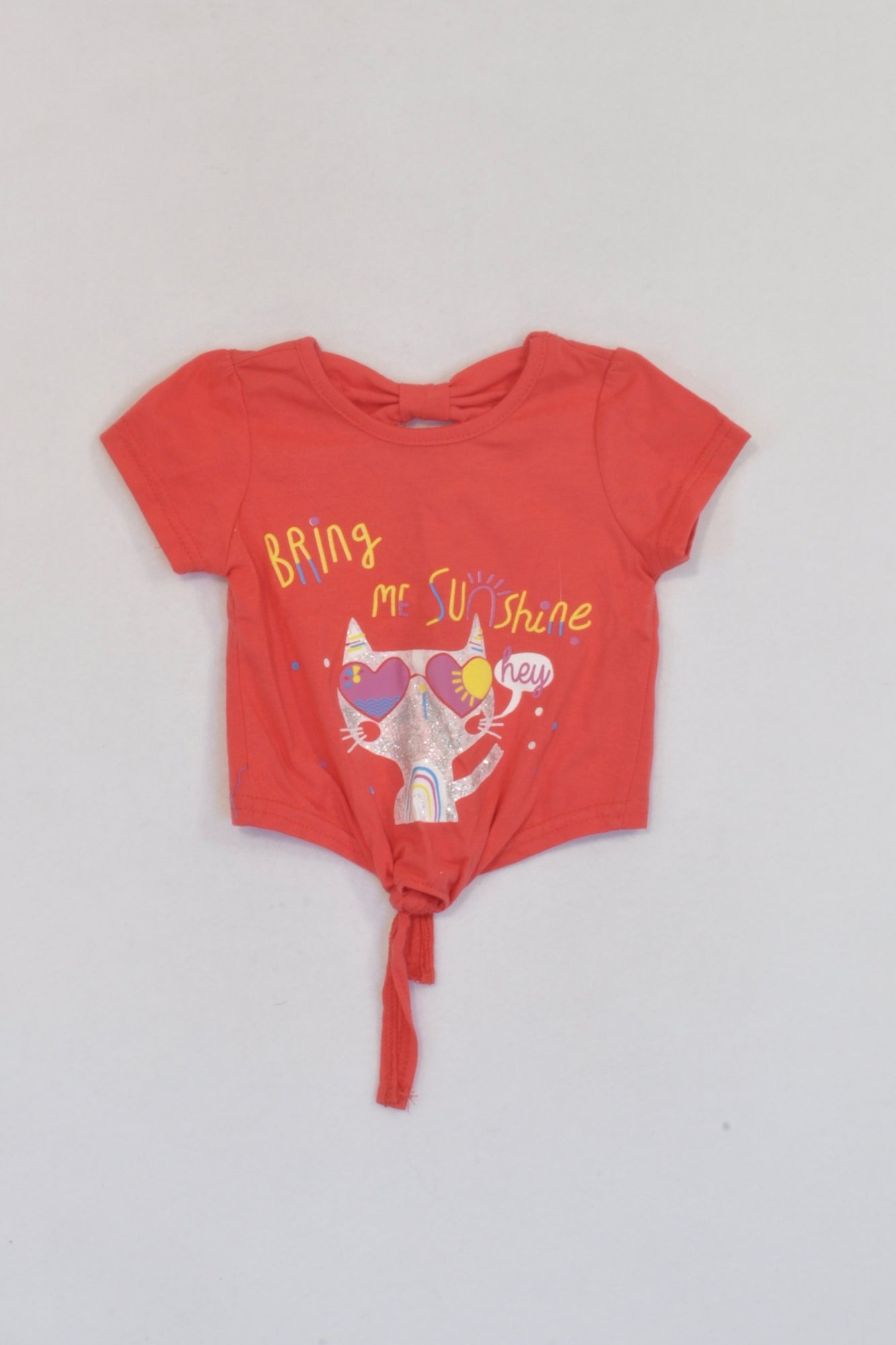 Ackermans Red Bring Me Sunshine T-shirt Girls 0-3 months