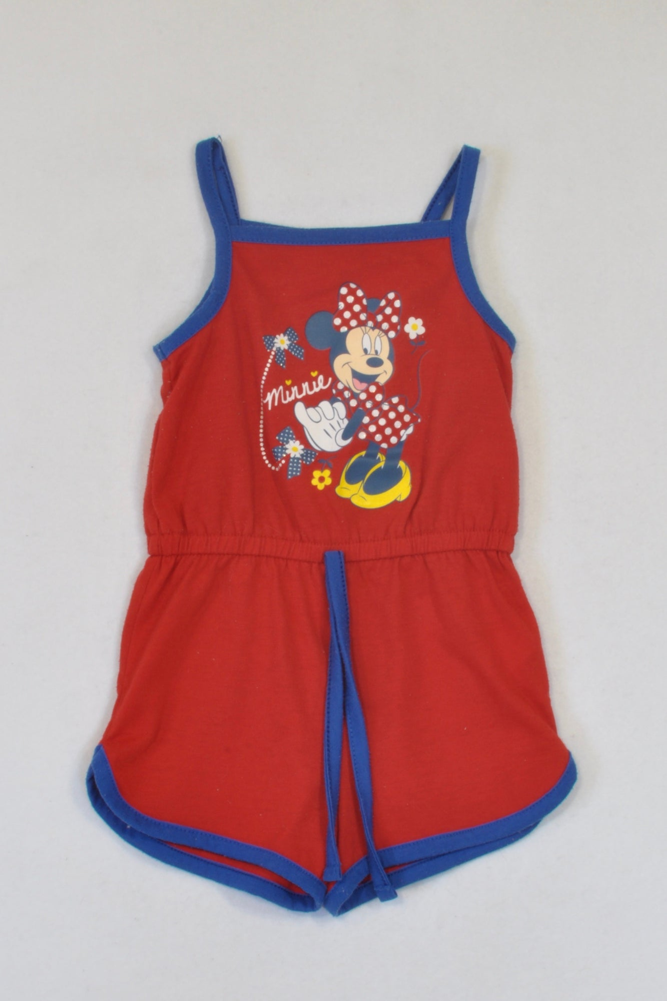 Disney Red Minnie Mouse Romper Girls 3-6 months