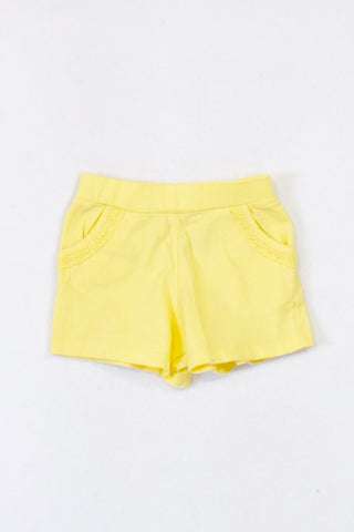 Mothercare Basic Yellow Play Shorts Girls 3-6 months