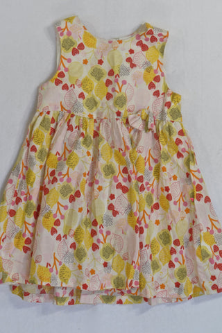 H&M Yellow Lemon And Strawberry Pattern  Dress Girls 18-24 months