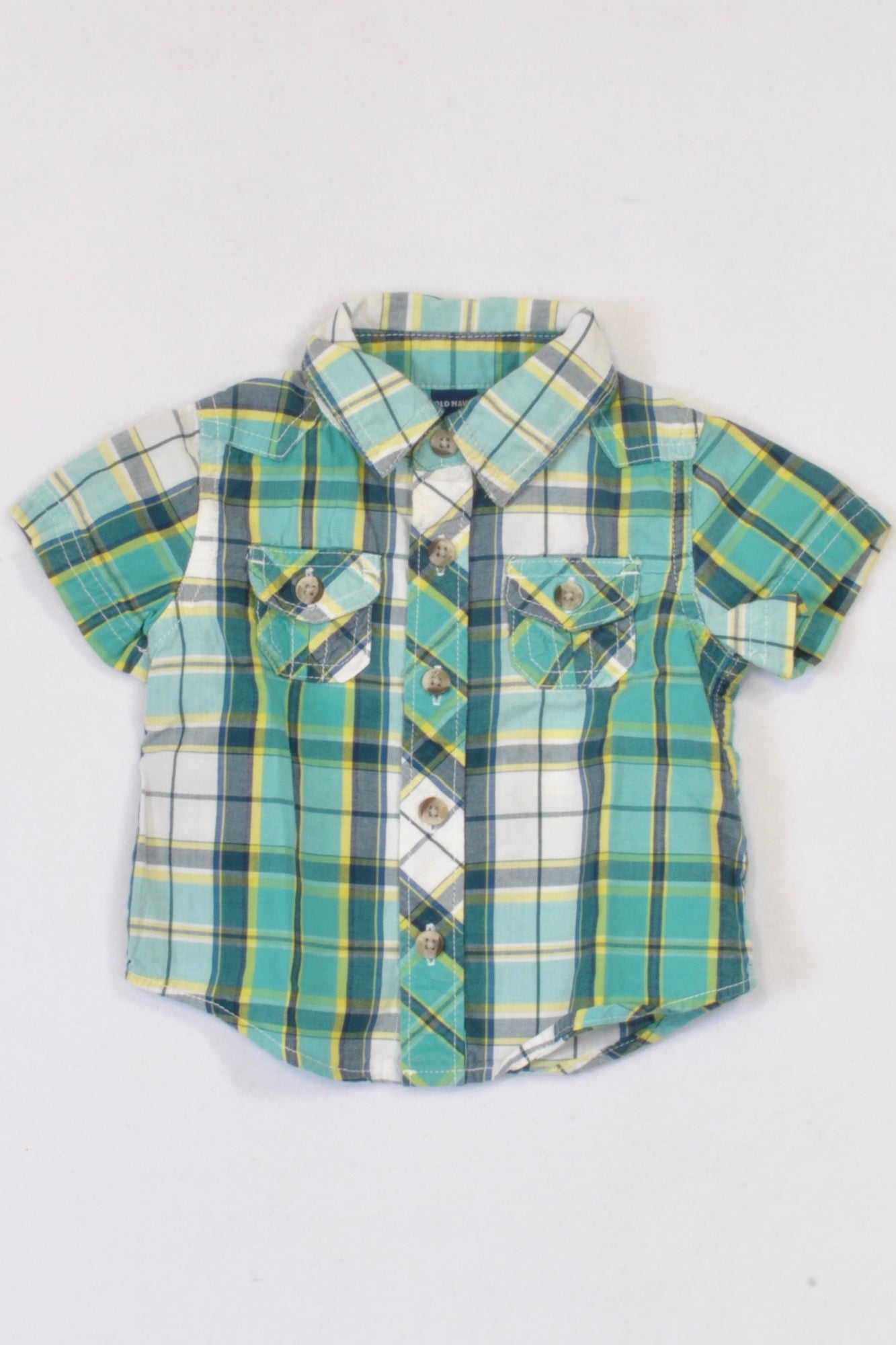 Old Navy Multi Coloured Plaid Collared Shirt Boys 0-3 months