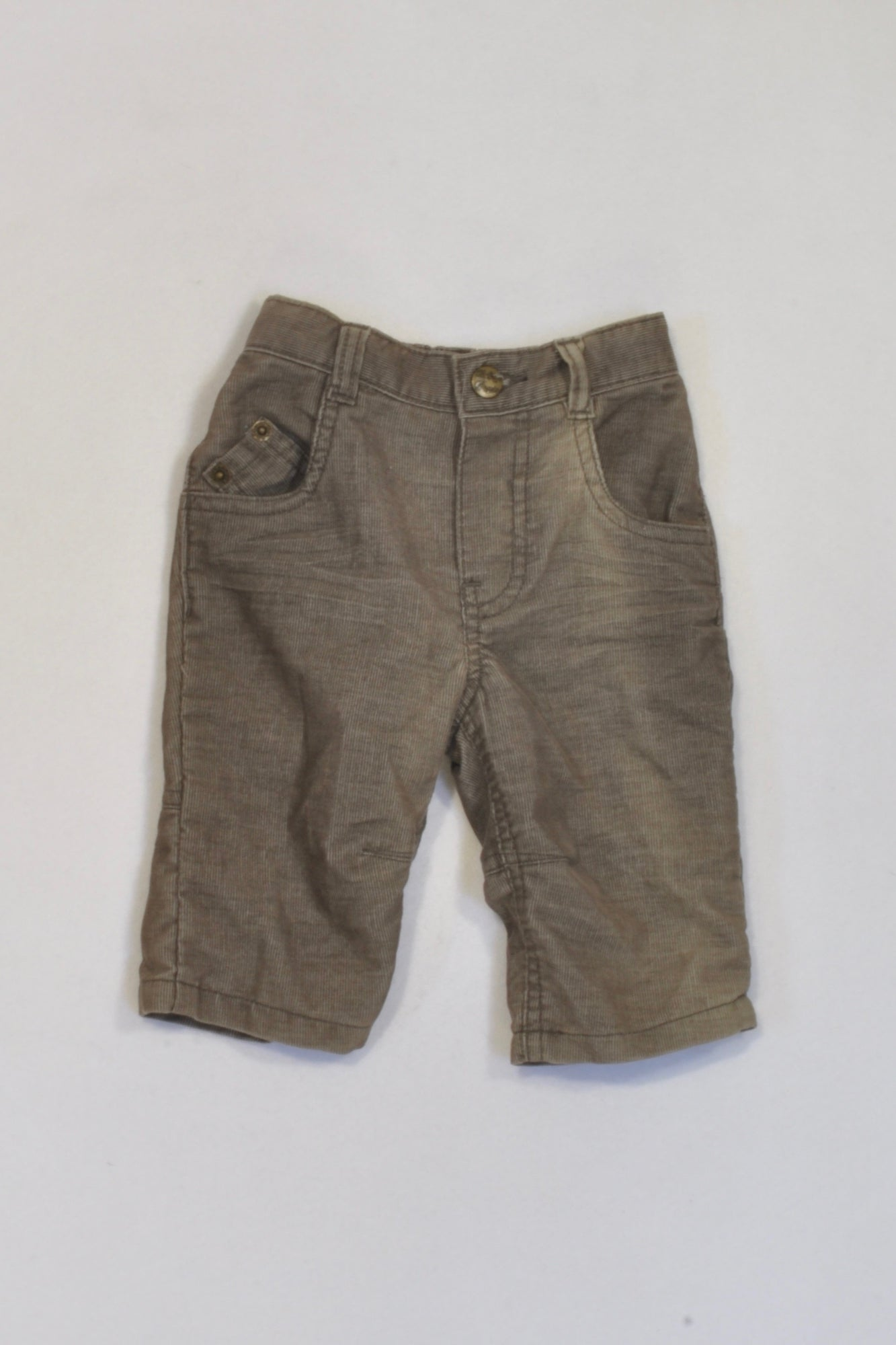 Mother Care Brown Corduroy Pants Boys 0-3 months