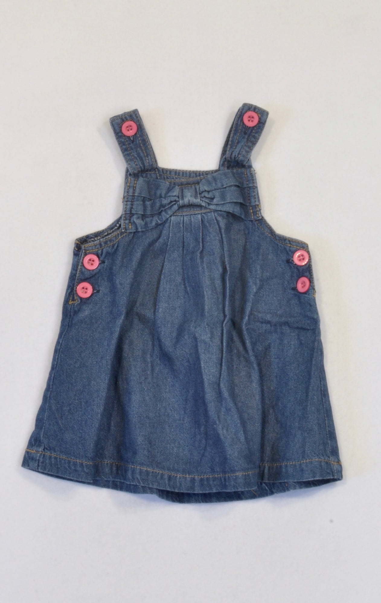 Ackermans Denim Bow Dress Girls 3-6 months