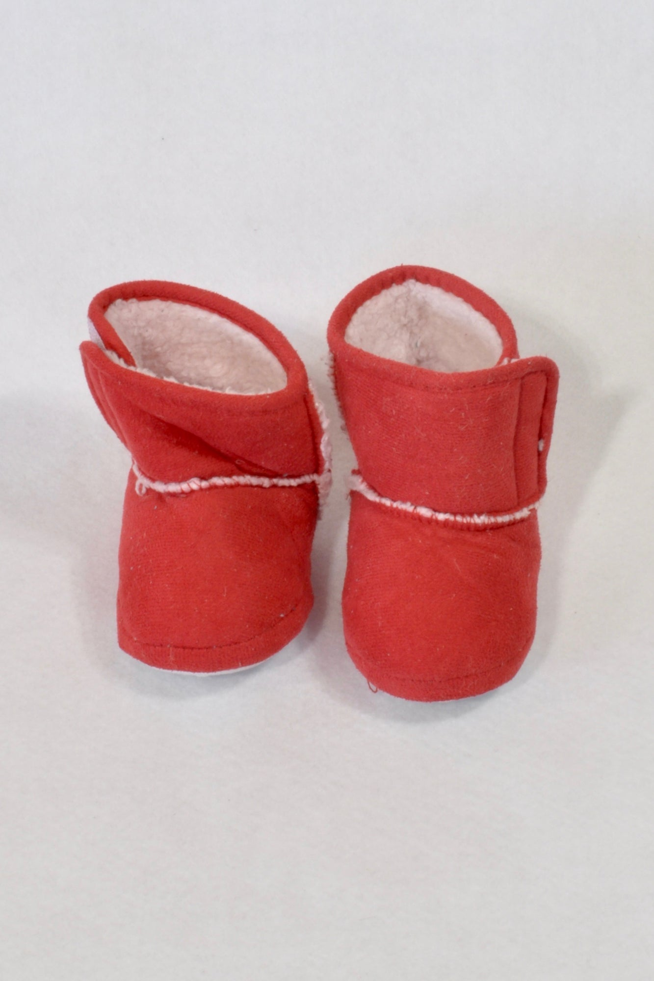 Pick n Pay Size 3 Red Faux Wool Lined Boots Unisex 9-12 months