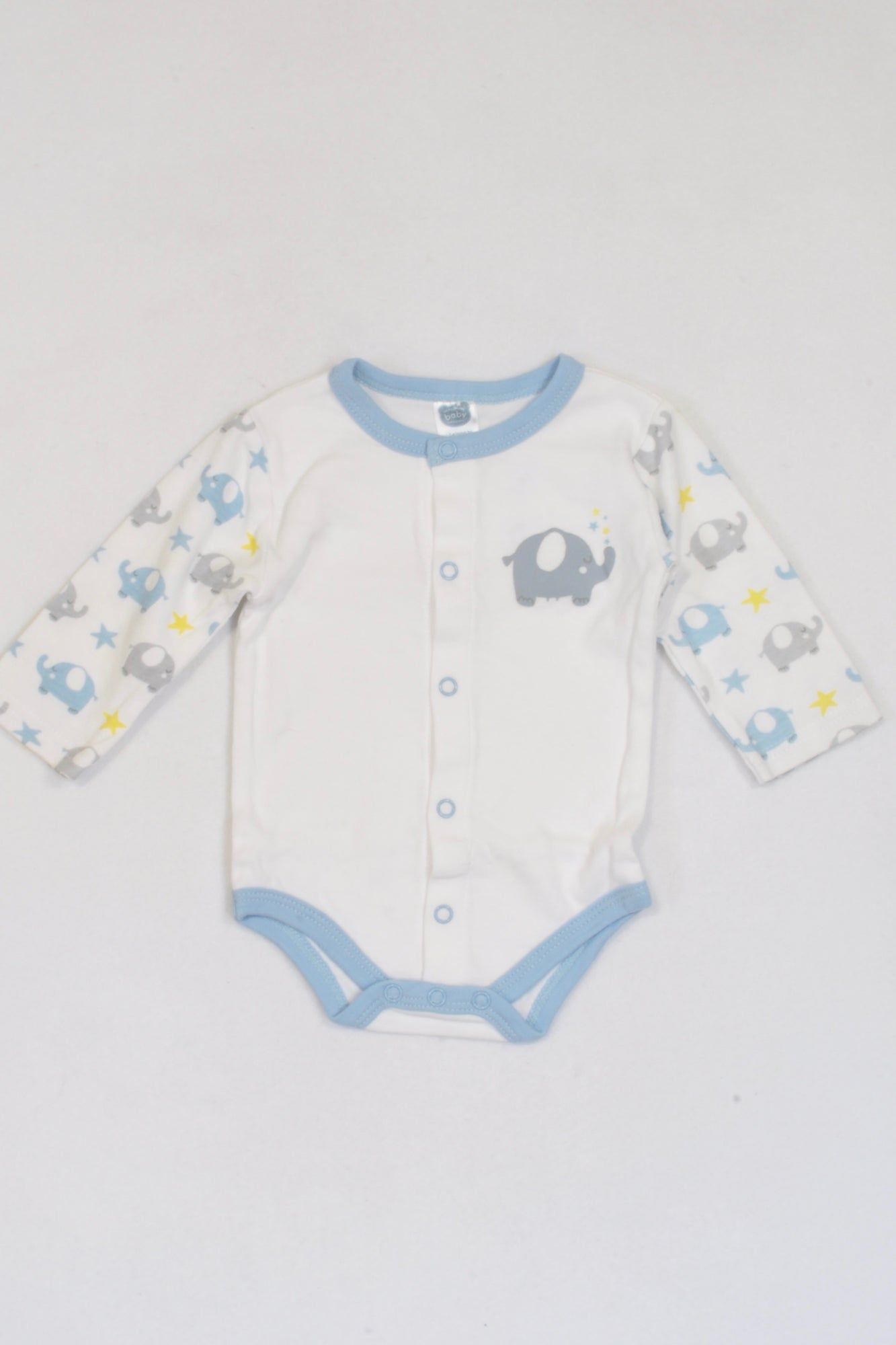 Ackermans Blue Elephant 1 of 2 Baby Grow Boys 0-3 months