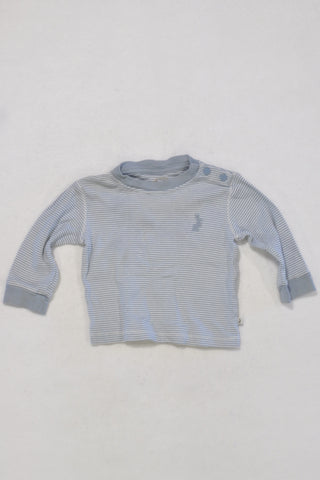 M&S Peter Rabbit Stripe Blue T-shirt Boys 3-6 months